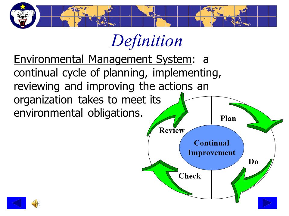 environmental management system How to develop a management system and keep it up to date so that you can carry out activities under an environmental permit.