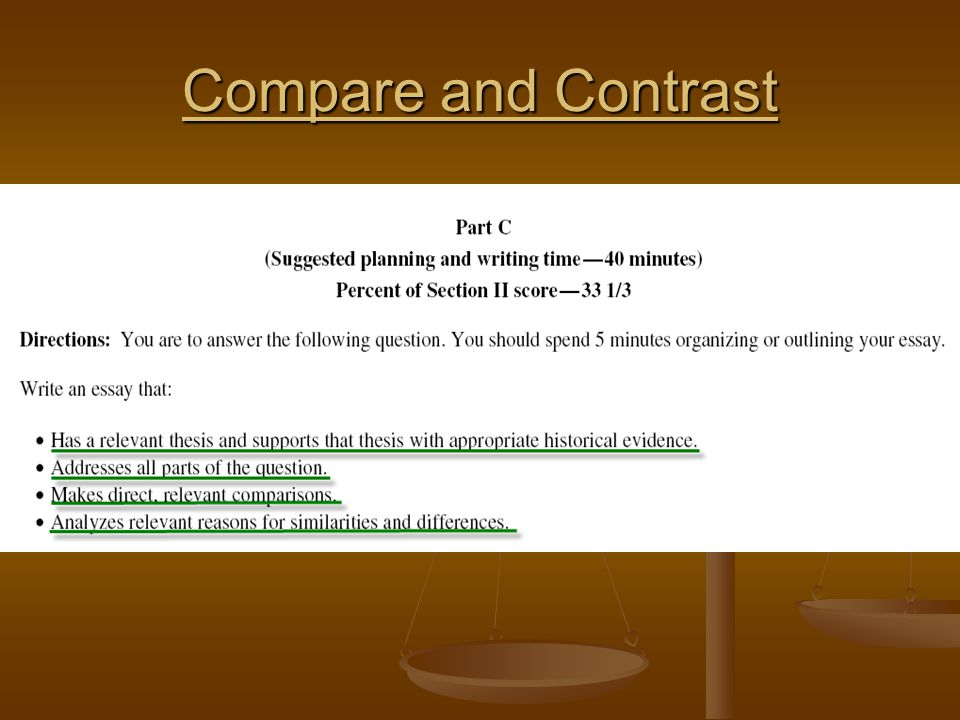 compare and contrast essay suggestions