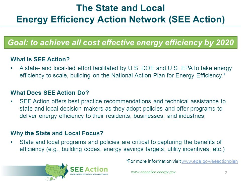 What is SEE Action. A state- and local-led effort facilitated by U.S.