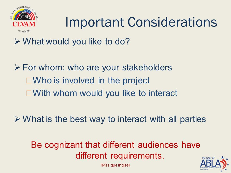 Important Considerations  What would you like to do.