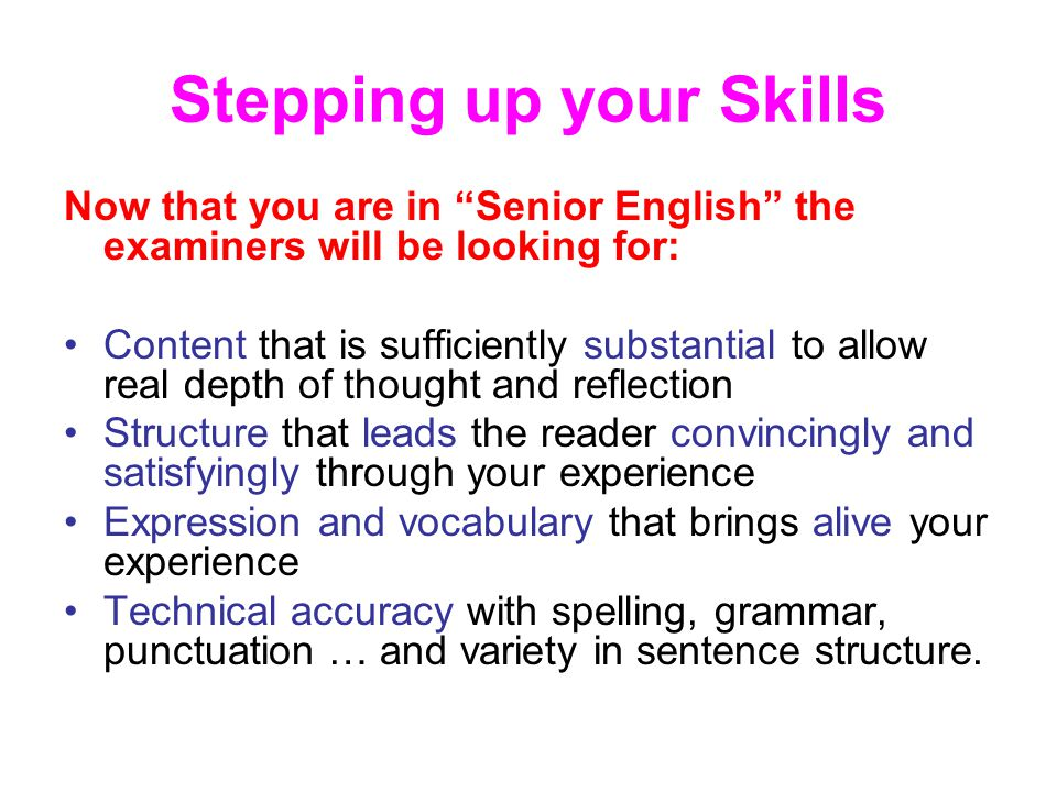 Write my higher english example essays