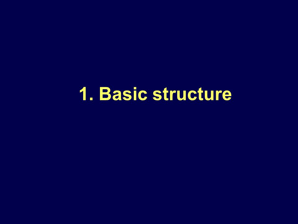 1. Basic structure