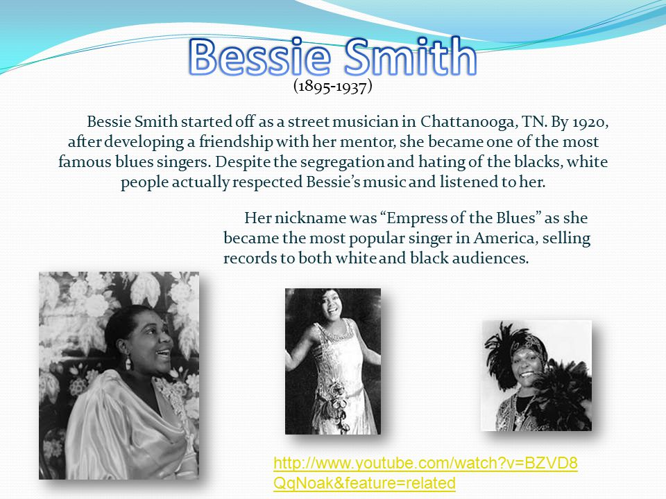 ( ) Bessie Smith started off as a street musician in Chattanooga, TN.