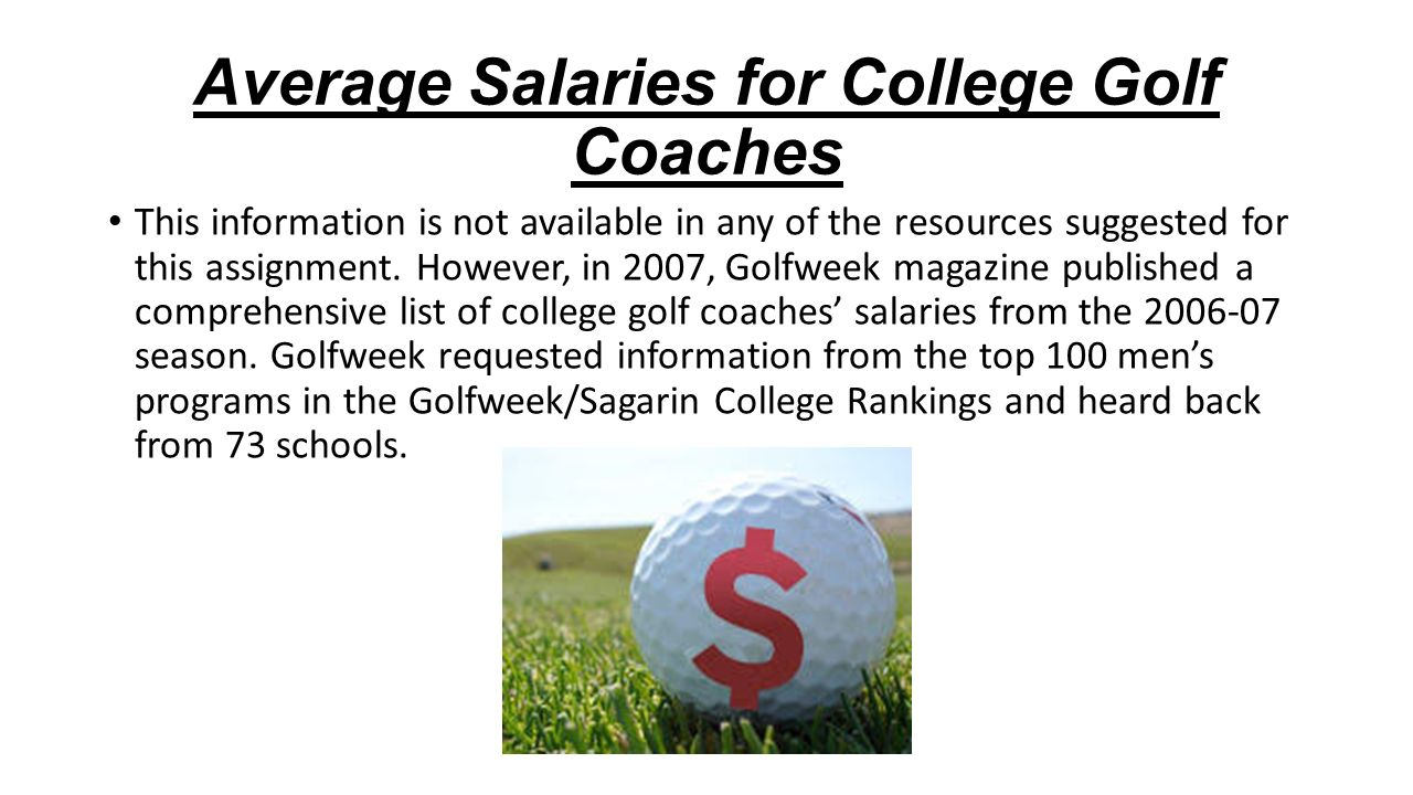 coaching college golf danny guise career goal to coach college 3 average