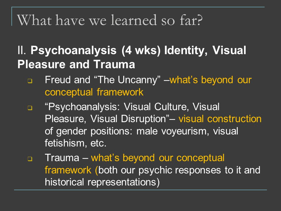 psychoanalysis culture and trauma