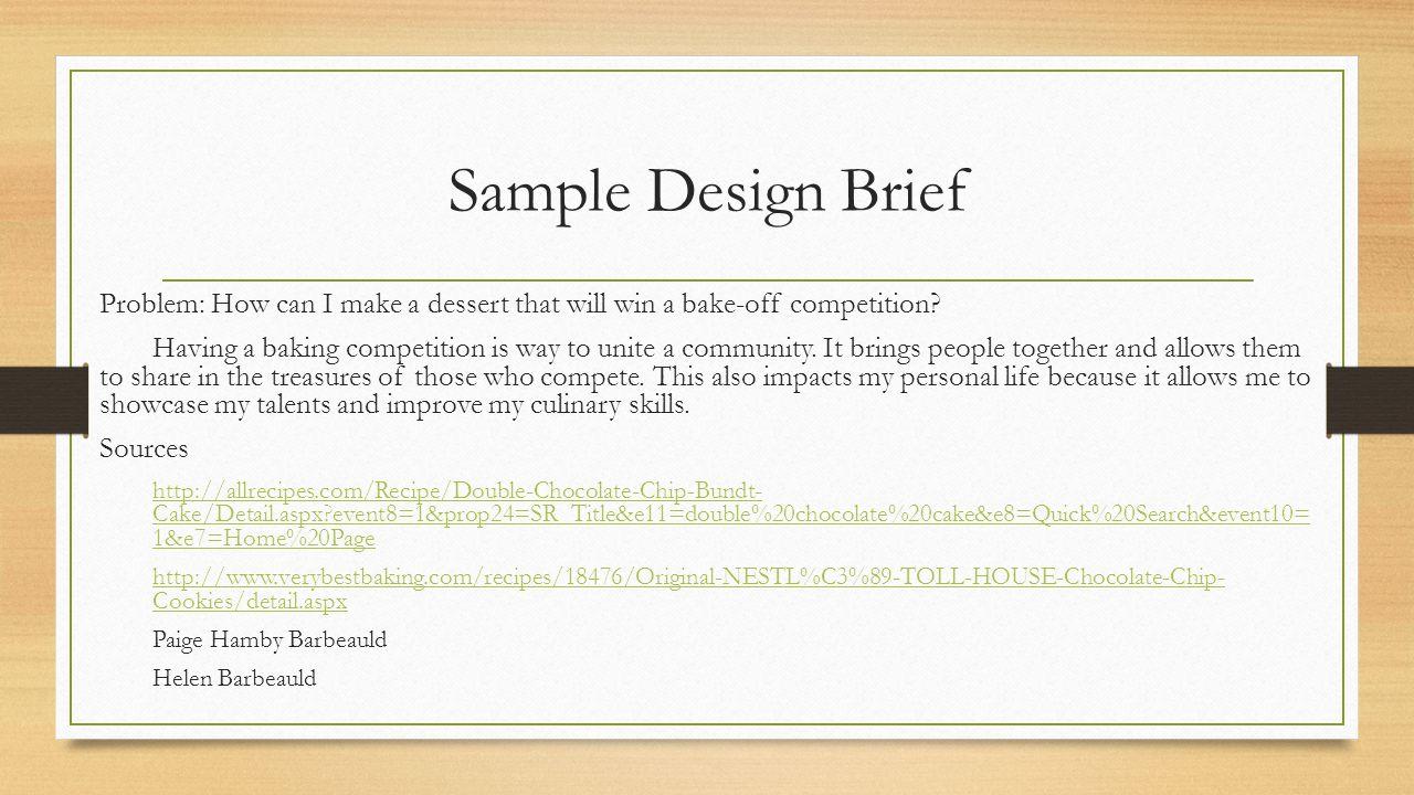 House design brief example - 8 Sample Design Brief