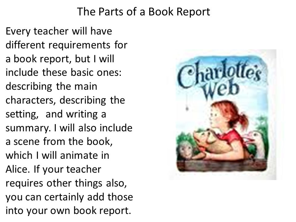what does a book report need to have