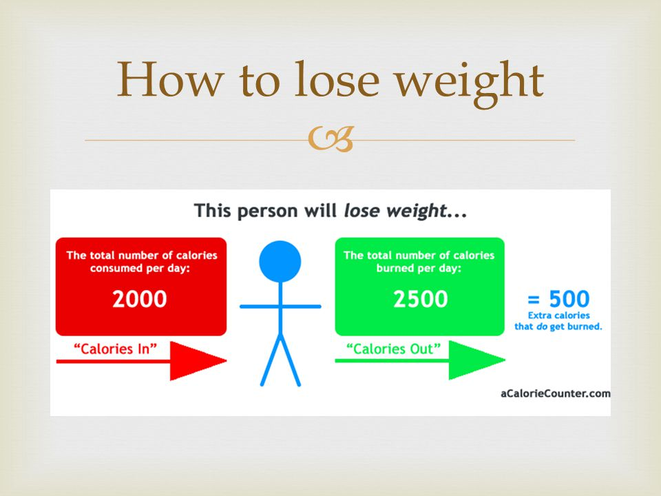  How to lose weight