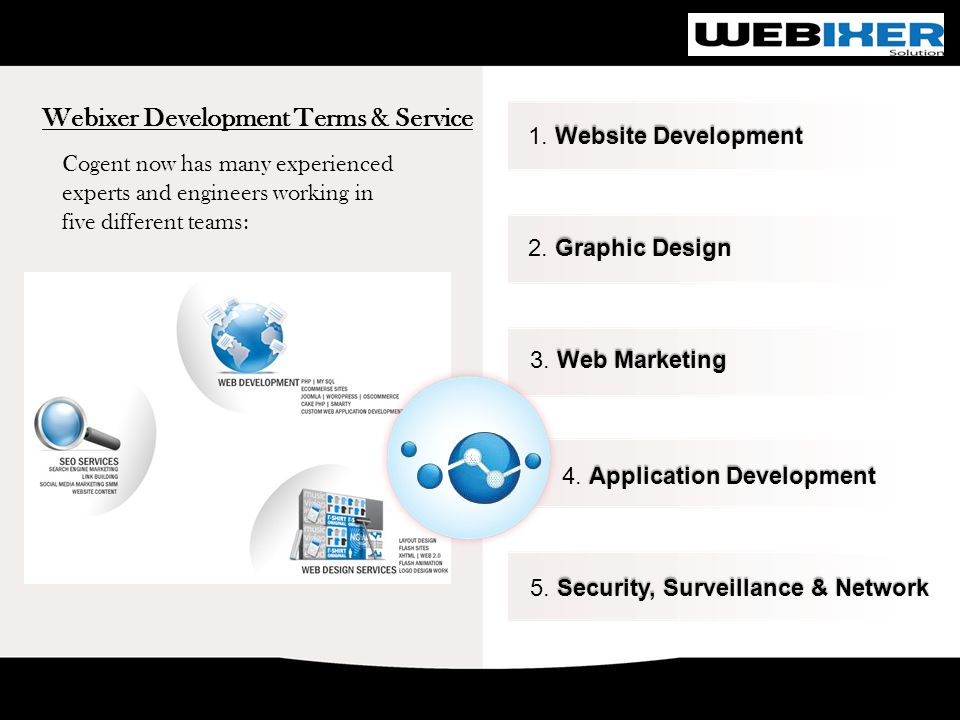 Webixer Development Terms & Service Website Development 1.