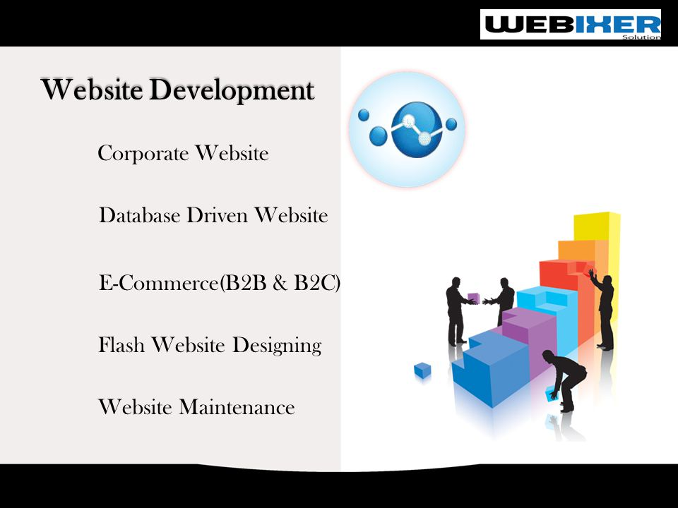 Website Development Corporate Website Database Driven Website E-Commerce(B2B & B2C) Flash Website Designing Website Maintenance