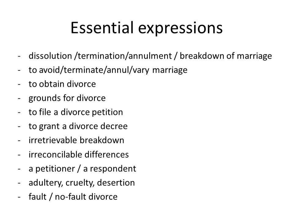 Unit  Divorce Judicial Divorce Under English Law Marriage
