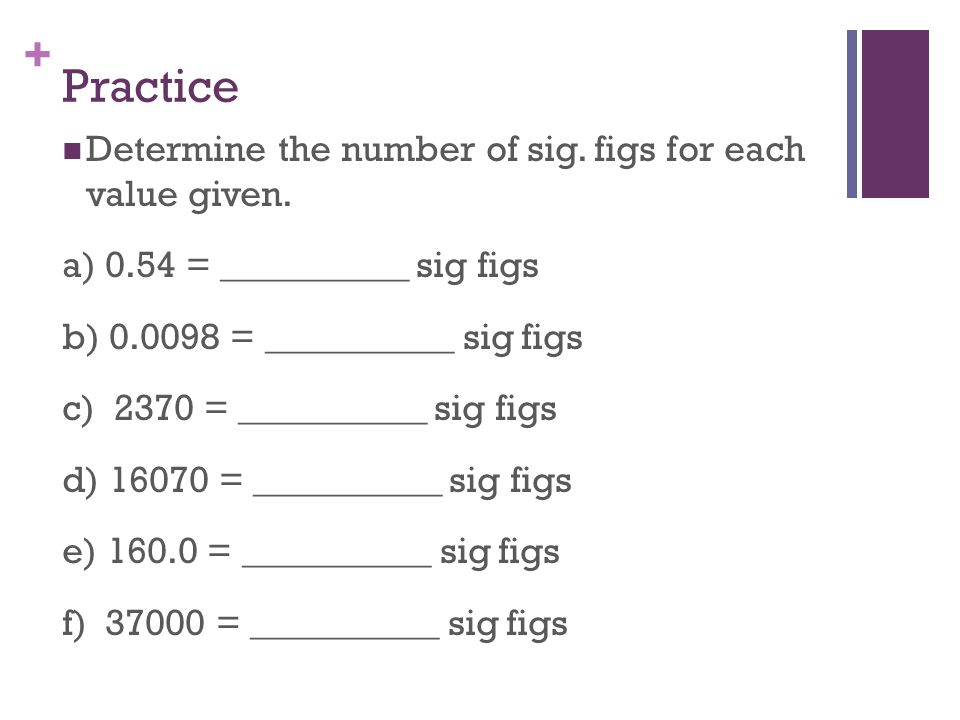 Practice Worksheet For Significant Figures : Katinabags.com