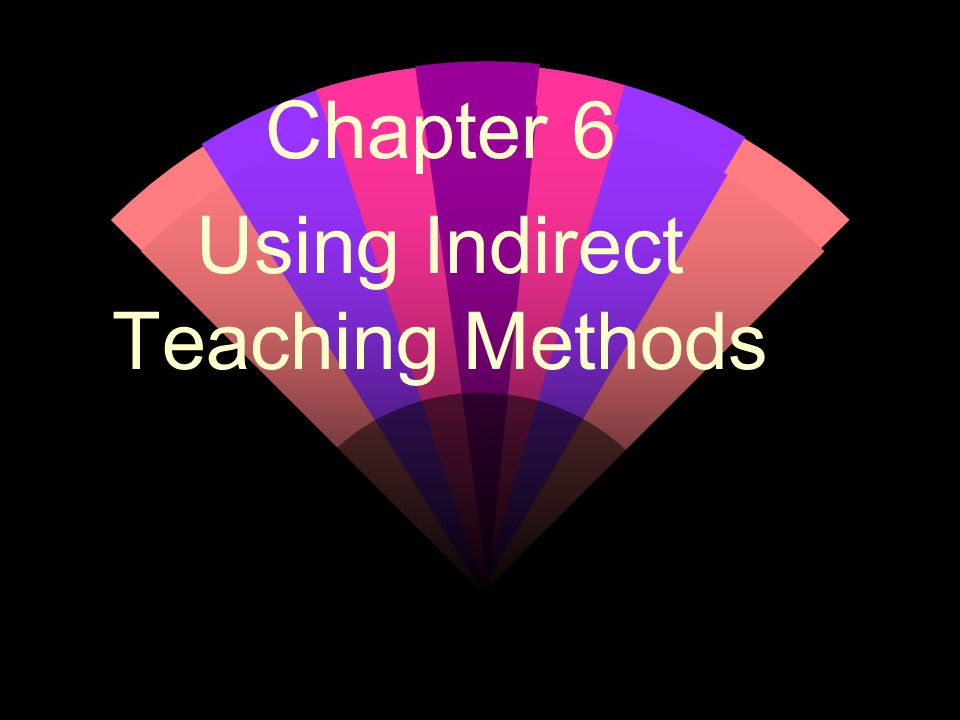 Chapter 6 Using Indirect Teaching Methods