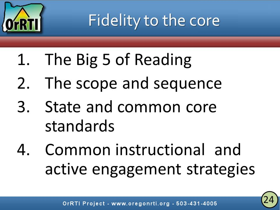 Successful core instruction is the most important thing you can do in RTI.