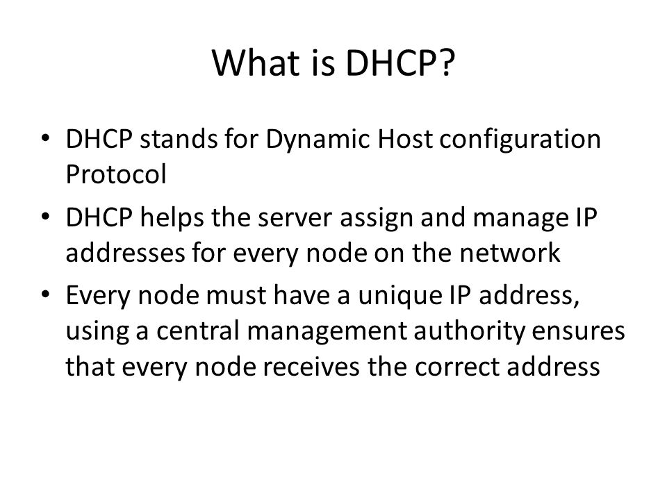 What is DHCP.