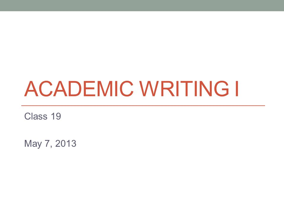Business writing and academic writing?