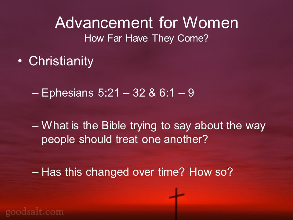Advancement for Women How Far Have They Come.