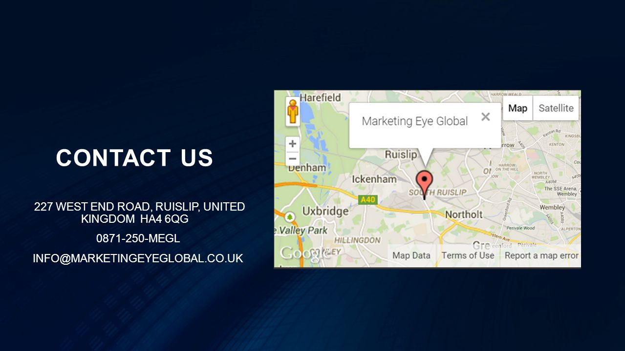 CONTACT US 227 WEST END ROAD, RUISLIP, UNITED KINGDOM HA4 6QG MEGL
