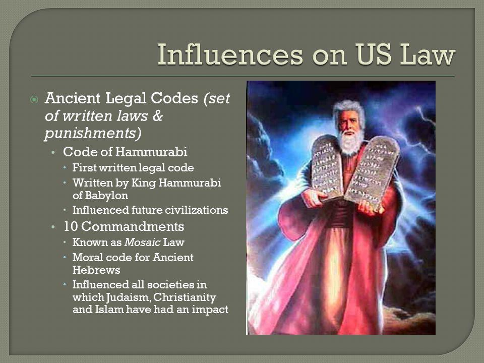 hammurabis impact on todays laws