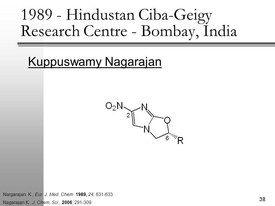 Kuppuswamy Nagarajan 38 Nagarajan K., J. Chem.