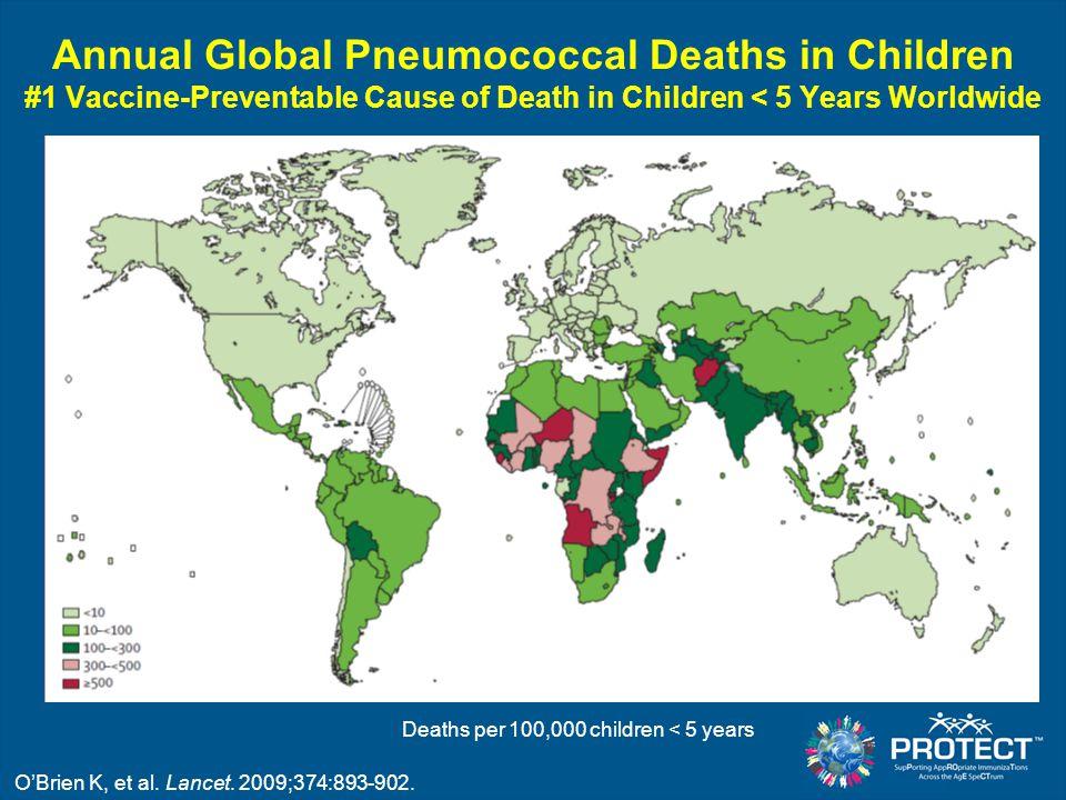 annual global pneumococcal deaths in children 1 vaccine preventable cause of death in children