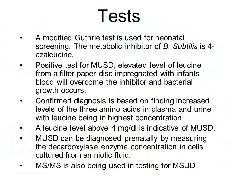 Guthrie Bacterial Inhibition Test