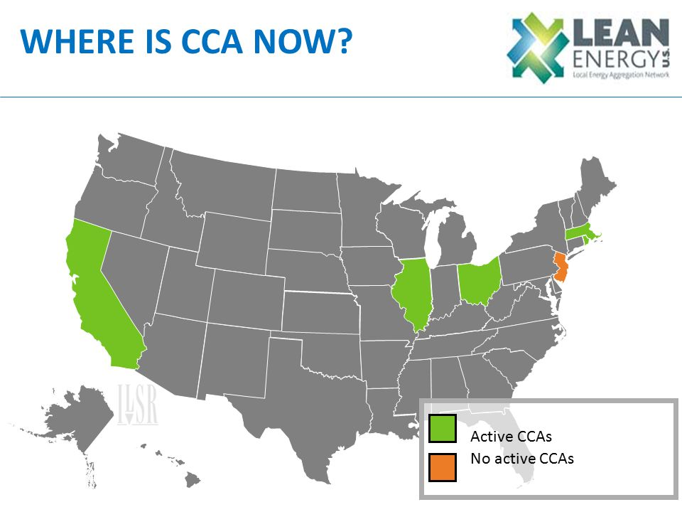 WHERE IS CCA NOW Active CCAs No active CCAs