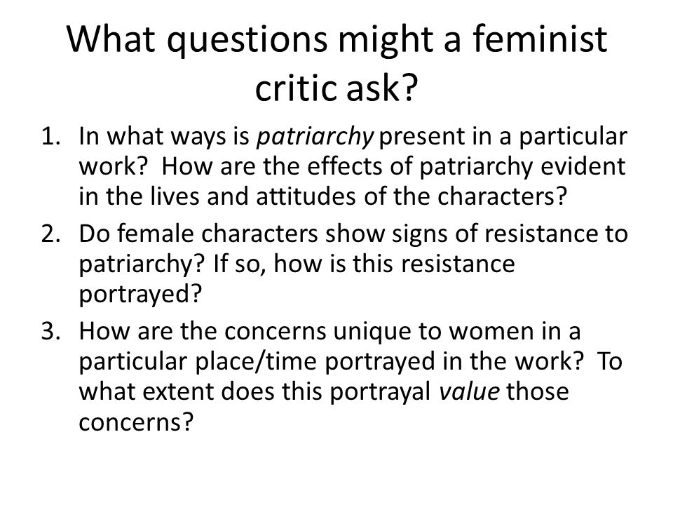 "feminist criticism essay on the story of an hour Below you will find five outstanding thesis statements for ""the story of an hour"" by kate chopin that can be used as essay starters or paper topics."