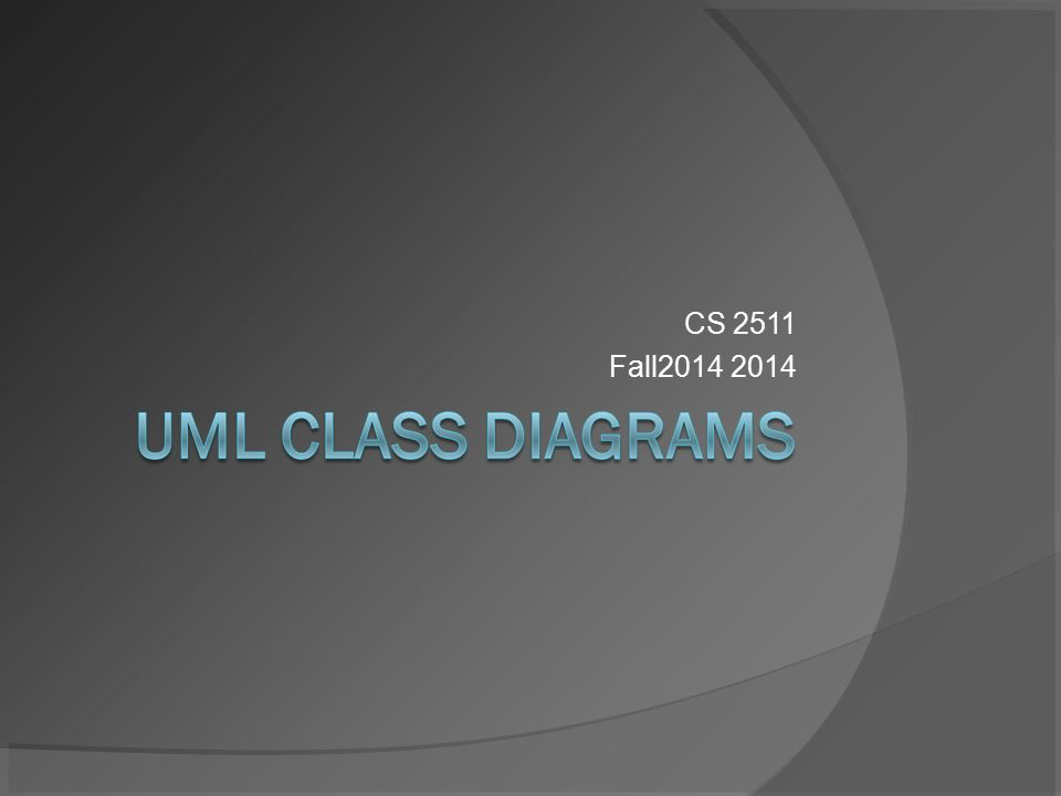 Cs 2511 fall uml diagram types 2 main types structure diagrams 1 cs 2511 fall2014 2014 ccuart Image collections