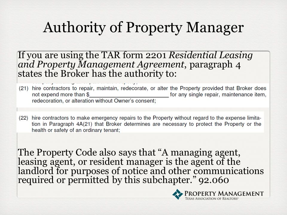 The Property Management Webinar Series Presents Repairs Presented