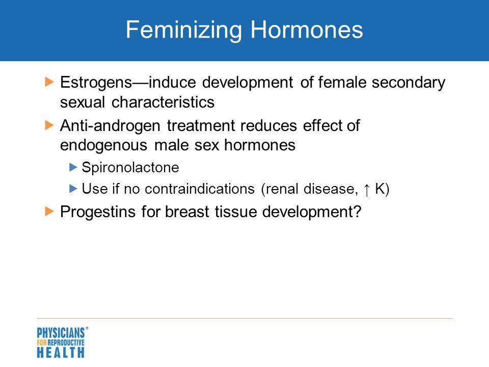 Anti androgen secondary sex characteristics