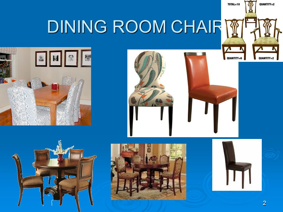 2 DINING ROOM CHAIRS
