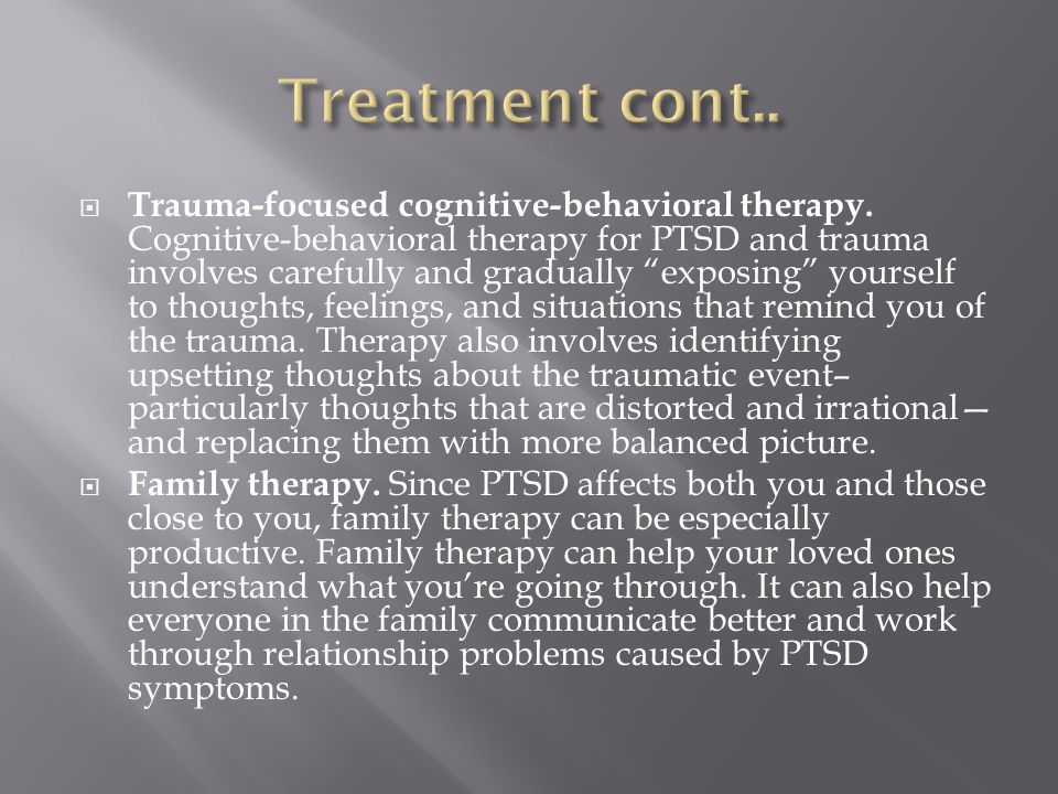  Trauma-focused cognitive-behavioral therapy.