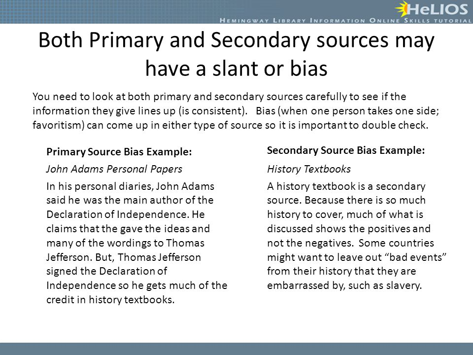 Primary Vs Secondary Sources Lesson Essential Question What Makes