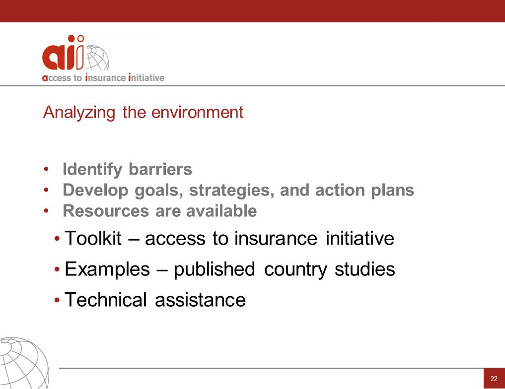 regulation and supervision supporting inclusive insurance markets and action plans resources are available toolkit access to insurance initiative examples published country studies technical assistance 22