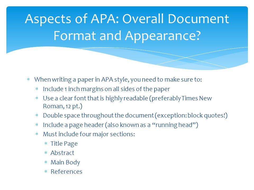 Need help on how to use APA? (:?