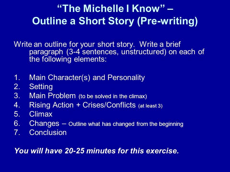 How do you write 3 brief outlines?