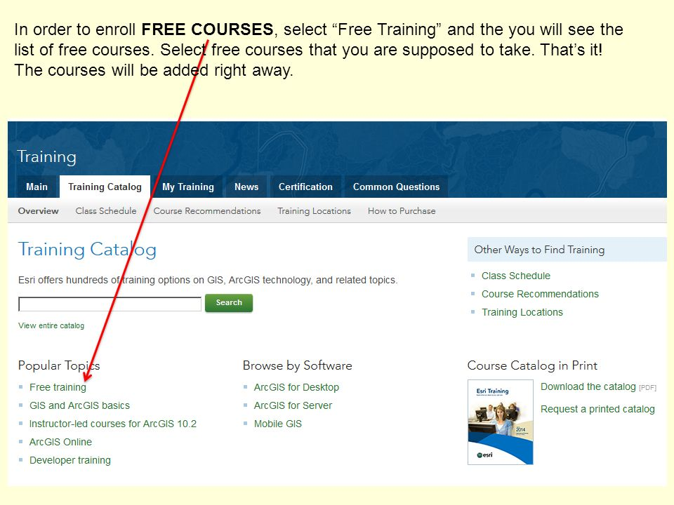 In order to enroll FREE COURSES, select Free Training and the you will see the list of free courses.