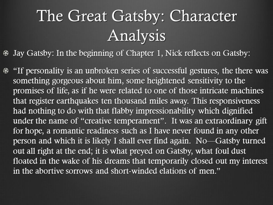 the great gatsby f scott fitzgerald the great gatsby cocktail  the great gatsby character analysis jay gatsby in the beginning of chapter 1