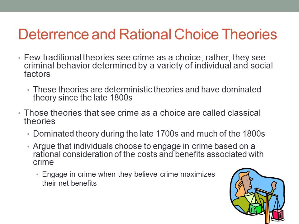 deterrence and rational choice theory of