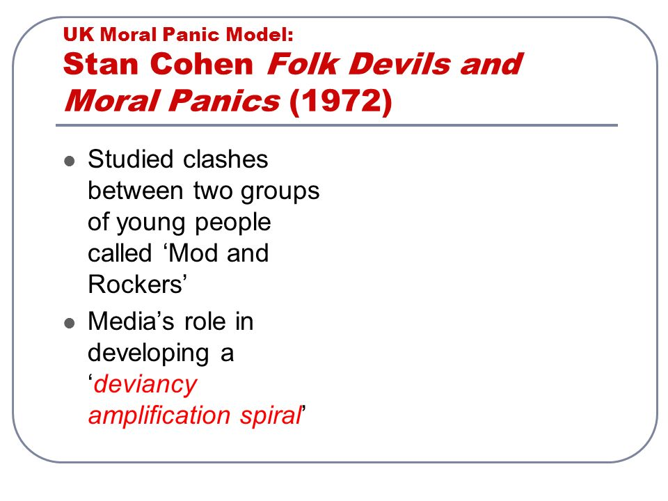 Young People And Moral Panic Soci0067 Crime And The Media Lecture 9