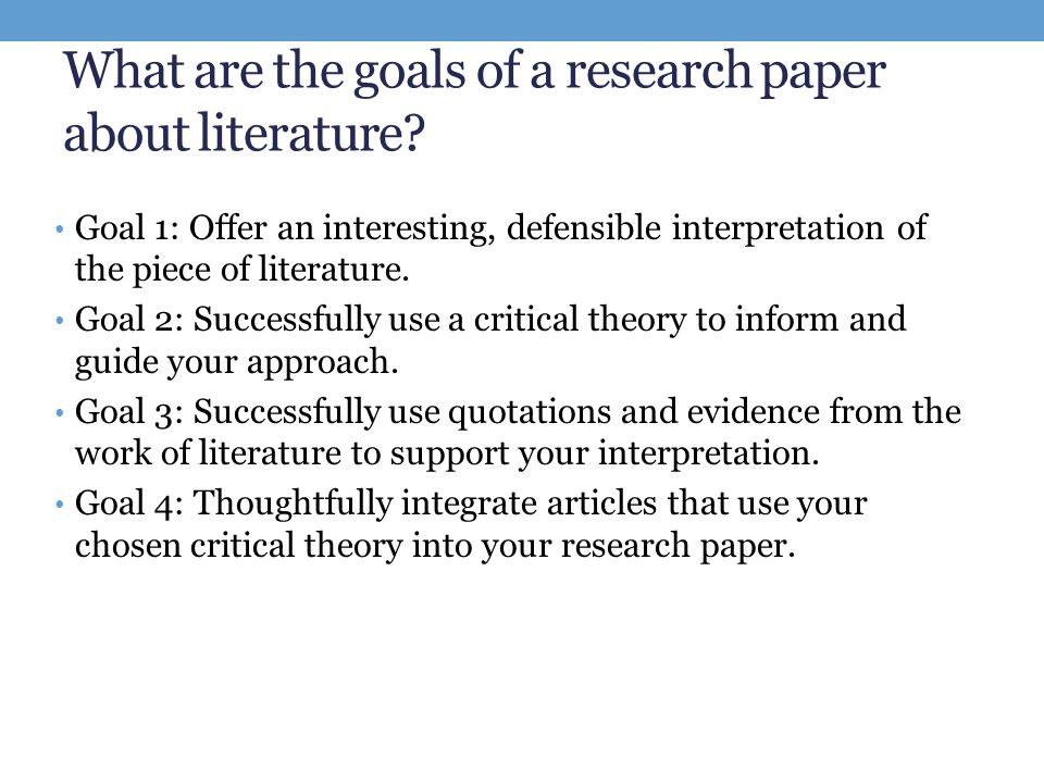 How to Write a Literary Research Paper - YouTube