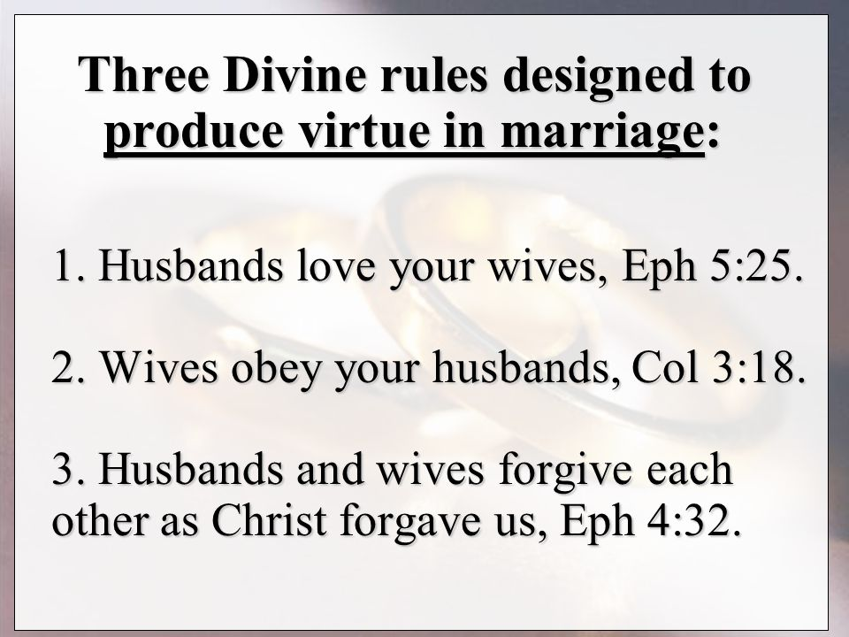 How to be obedient to your husband
