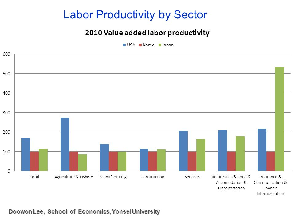 Labor Productivity by Sector Doowon Lee, School of Economics, Yonsei University