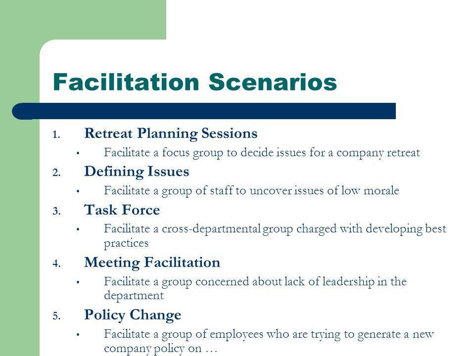 Facilitation Scenarios 1.