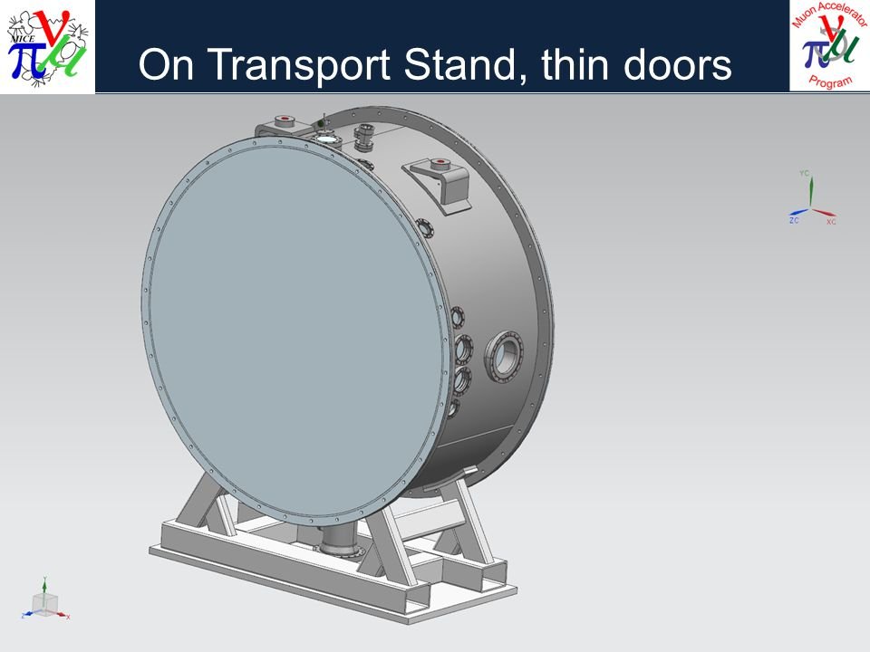 On Transport Stand, thin doors