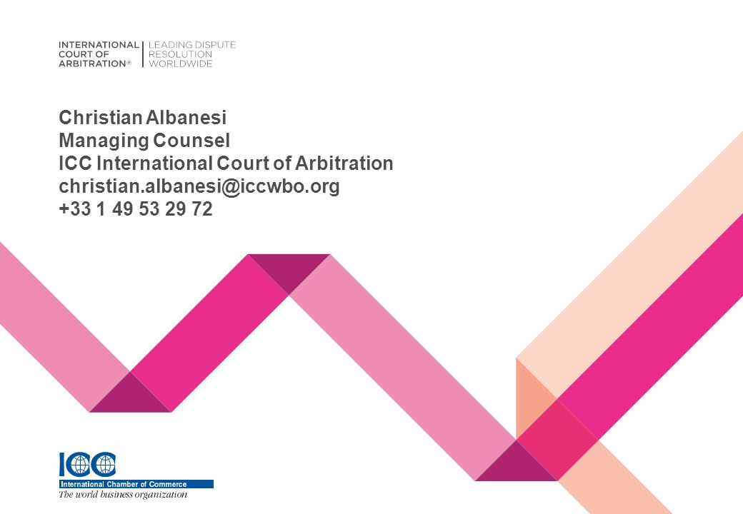 Christian Albanesi Managing Counsel ICC International Court of Arbitration