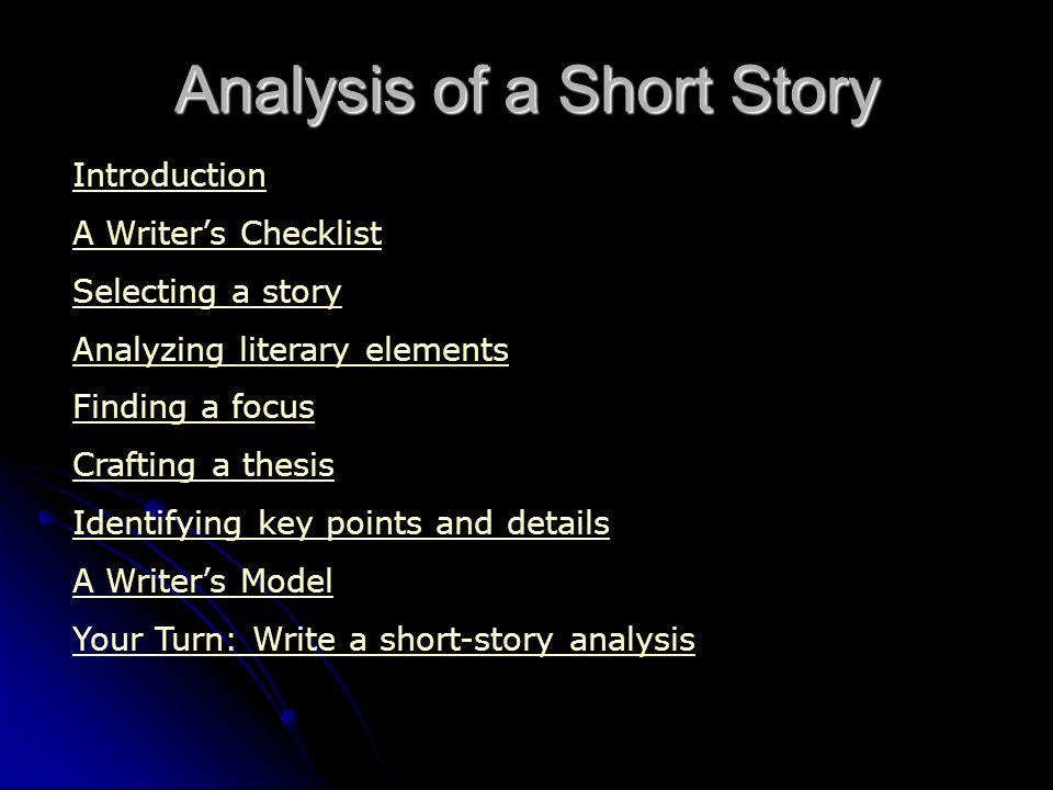 write analysis essay short story