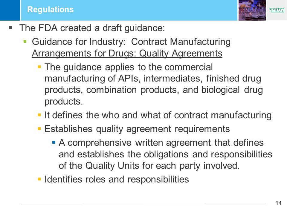 Growth and success through partnering outsourcing ppt download 14 regulations the fda created a draft guidance guidance for industry contract platinumwayz