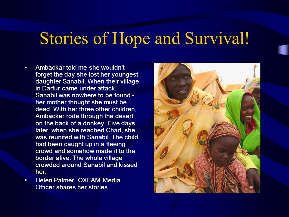 Stories of Hope and Survival.